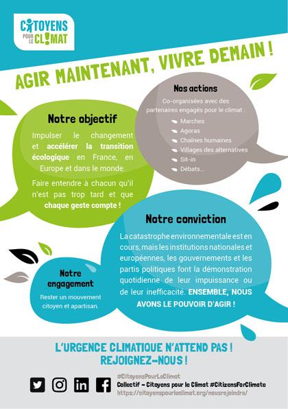 Télécharger le flyer Citoyens pour le Climat